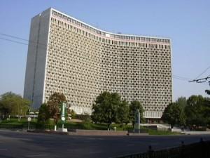 Гостиница Узбекистан - фасад